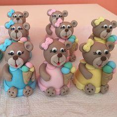 Ursas de chocolate e brigadeiro para festa Sorveteria. #benditosbrigadeiros #doces #designdedoces ...