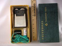 Transistor Radio Universal 6 Transistor Radio Vintage Black Battery Operated Portable 6  Pocket Radio With Box And Accessories .epsteam by retroricks on Etsy
