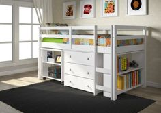 LOVE for the boys room! Such a space saver - and FREE shipping via Amazon. White Twin Low Loft DONCO http://www.amazon.com/dp/B00GO9SXBE/ref=cm_sw_r_pi_dp_RJSnub0GMV97G