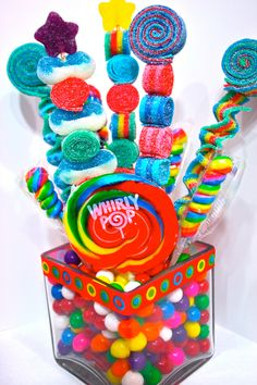 Sweet Stick Candy Kabob Skewers Arrangement-Edible Favors Centerpiece , Candy Buffet Decor, Candy Arrangement Wedding, Mitzvah, by HollywoodCandyGirls on Etsy https://www.etsy.com/listing/165262084/sweet-stick-candy-kabob-skewers