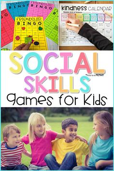 17 social skills games to use with kids to teach communication, friendship, listening, and kindness. Enjoy the twist on popular games and printable options, as they practice important social skills. Preschool Social Skills, Social Emotional Activities, Social Skills Lessons, Social Skills For Kids, Social Skills Activities, Coping Skills, Social Games, Life Skills, Social Skills Autism