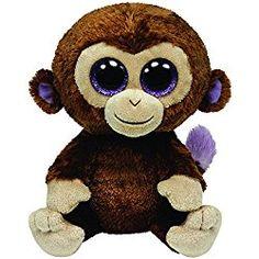 0f4d6642d88 Ty Beanie Boos - Coconut - Monkey Large Beanie Boos
