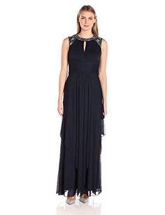 dbe8b90041b Alex Evenings Women s Jewel Neck Long Dress. Leedo Art · Dresses · Sangria Women s  Plus Size ...