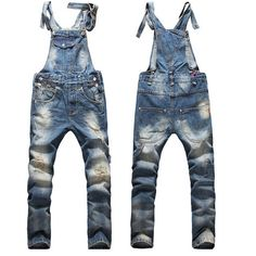 Cheap fashion ripped jeans, Buy Quality ripped jeans directly from China ripped jeans fashion Suppliers: 2017 European American Style Fashion Men Hip Hop Skinny Overalls Pants Skinny Ripped Jeans Plus Size Denim Jumpsuit 021408 Ripped Jeans Men, Loose Fit Jeans, Denim Jeans Men, Bib Overalls, Jeans Pants, Overalls Fashion, Dungarees, Plus Size Mens Jeans, Men's Clothing