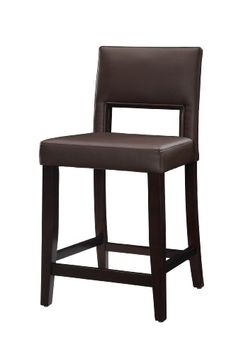 The Linon Vega Counter Stool features a rich, dark espresso finish. A natural fit for any setting, this stool also has a PVC vinyl-covered. Tall Bar Stools, 24 Counter Stools, Leather Counter Stools, Wooden Counter, Bar Counter, Bar Chairs, Pink Chairs, Foam Cushions, Bar Furniture