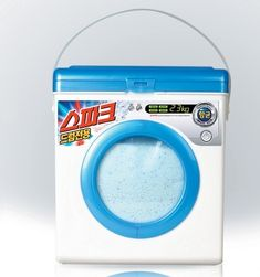 For you Signe Lyborg Spark laundry detergent, via South Korea. #Packaging that does look like a washing machine. PD