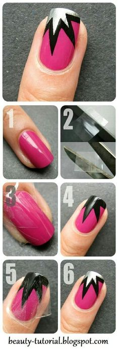 Step By Step Nail Designs Gallery easy nail art designs for beginners step step tutorials Step By Step Nail Designs. Here is Step By Step Nail Designs Gallery for you. Step By Step Nail Designs step step nail art tutorials pinkmelon. Step B. Simple Nail Art Designs, Cute Nail Designs, Pretty Designs, Trendy Nail Art, Nail Art Diy, Red Nails, Hair And Nails, Star Nails, Silver Nails
