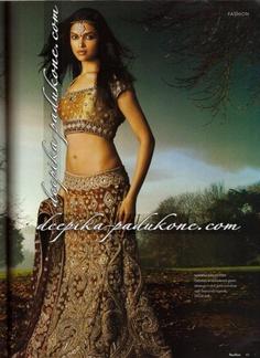 Love the tarnished gold color  deepika_padukone_malhotra