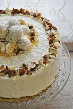 Almond Coconut Cake – Torta Raffaello – Cook and Love – blackdesserts Rafaelo Cake, Bakery Recipes, Dessert Recipes, Almond Coconut Cake, Torte Cake, Birthday Cake Decorating, Italian Desserts, Cake Decorating Tutorials, Drip Cakes