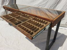 Reclaimed Printer Drawer Console Table. 68 x 18 x 30h  Price is for remaining half of payment. LOVE IT!