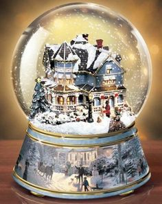 I love snow globes and I want to get a one big sno globe for this Christmas All Things Christmas, Christmas Time, Merry Christmas, Xmas, Thomas Kinkade Christmas, I Love Snow, Water Globes, Christmas Snow Globes, Snowball