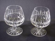 TWO Vintage Ceskci Crystal Brandy Snifters Poland RARE SIGNED Gorgeous! #CESKCI