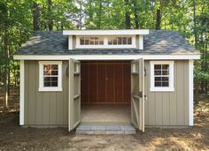 Our new Amish-built storage shed promises to solve our garage disorganization and our backyard landscaping issues while creating great workshop space. shed design shed diy shed ideas shed organization shed plans Backyard Storage Sheds, Backyard Sheds, Outdoor Sheds, Shed Storage, Built In Storage, Garden Sheds, Storage Ideas, Storage Spaces, Smart Storage