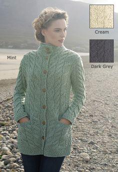 Super-Soft Long Cardigan, New for Fall Bread Head, Irish Clothing, Irish Celtic, Warm Sweaters, Fall Collections, Long Cardigan, Dark Grey, Merino Wool, Snug