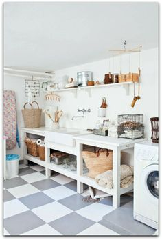 Perfect Storage for Laundry Room #LaundryRoom