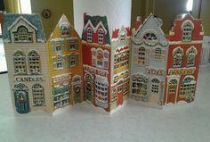 Vintage 1982 Avon Christmas Advent Calendar Cardboard Paper Type Lift Windows #Avon