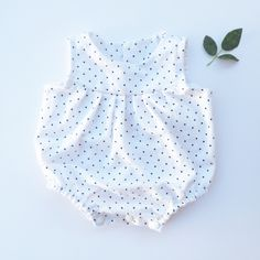 Image of Flannelette polka dot play suit