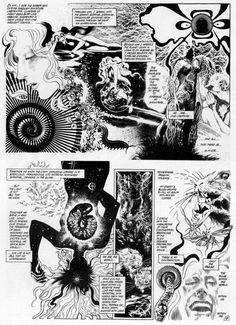 The trippy uninked pages from Rite of Spring