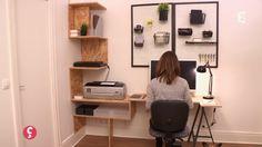 [DÉCO] Un bureau sur mesure !  Marie travaille beaucoup chez elle et voudrait créer un vrai espace bureau, pratique avec des rangements. Le problème, cette même pièce sert aussi de dressing. Il faut trouver des solutions pour agencer les deux espaces pour une pièce optimisée en rangement, organisée et feng shui ! En plus, Marie aime les matériaux brut .
