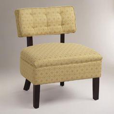 golden geometric logan slipper chair--from World Market!!