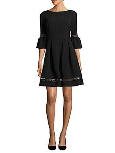 Eliza J Textured Fit-and-Flare Dress