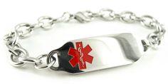 Steel Raindrop Black Symbol Pre-Engraved /& Customized Hypoglycemia ID Bracelet My Identity Doctor