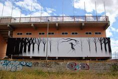The Mist by street artists Pablo Herrero and David de la Mano