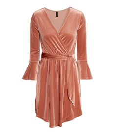 Rose Velour Wrap Dress   H&M Divided