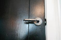 Emtek Ribbon & Reed lever and Rope rosette Door Knobs, Door Handles, Nate Berkus, Door Design, Art Nouveau, Hardware, Doors, Gallery, Projects