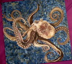 "Octopus Painting | octopus acrylic painting, aka ""octo lisa"" « theredpencilbox"