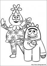 Yo Gabba Gabba coloring pages....many to choose from to add to favor bags with crayons.