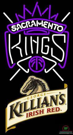 Killians Irish Sacramento Kings Neon Sign NBA Teams Neon Light