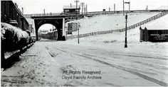 Radcliffe, Church street in the snow 1948