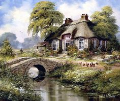 English Cottage 1 - Counted cross stitch pattern in PDF format by Maxispatterns on Etsy