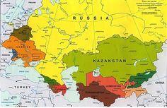 CIS 12개 국가 지도(CIS map)