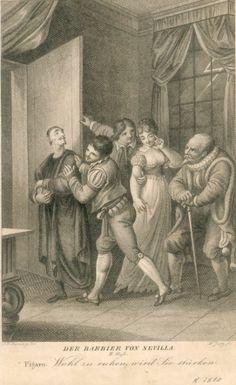 Don Basilio, Conte di Almaviva, Figaro, Rosina, Bartolo