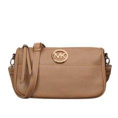Michael Kors Fulton Messenger Small Apricot Crossbody Bags - $74.99