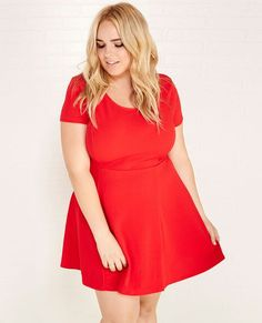 I Actually have this skater dress from WetSeals  plus sized clothing line. Its light, breezy and easy to dress up or down.