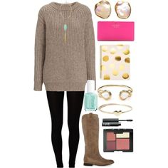 A fashion look from October 2014 featuring Edun sweaters, Majestic leggings and Frye boots. Browse and shop related looks.