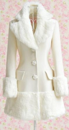 Womens Elegant Faux Fur Long Winter Warm Coat Parka Wool Trench Overcoat S-XL There's something kind of cute about this coat! Coat Dress, Dress Up, Kawaii Dress, Coats For Women, Clothes For Women, Cool Coats, Parka, Warm Dresses, Cocktail Dresses