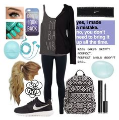 """""""♔ No bad vibes ♔"""" by gabby0604 ❤ liked on Polyvore featuring NIKE, Billabong, Velvet by Graham & Spencer, Vera Bradley, Monki, Chanel, River Island, FOSSIL and Topshop"""