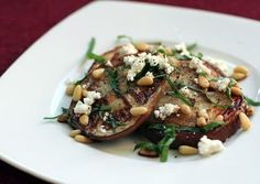 Grilled Eggplant and Goat Cheese