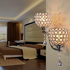 Modern LED Crystal Small Wall Sconces  | Cheerhuzz  https://cheerhuzz.com/collections/wall-lights/products/led-crystal-small-wall-sconces-wl203?variant=35800244687