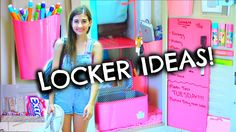 back to school DIY locker organization & decorations! Today I show you how to make your own DIY locker supplies, locker organization, and diy decorations! Cute Locker Ideas, Diy Locker, Locker Stuff, School Locker Organization, Diy Organization, School Looks, School Locker Decorations, Decorated School Lockers, Middle School Lockers