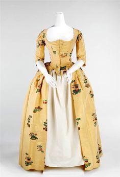 1776. Robe à l'Anglaise. British. Silk