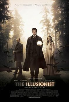THE ILLUSIONIST (2006): In turn-of-the-century Vienna, a magician uses his abilities to secure the love of a woman far above his social standing.