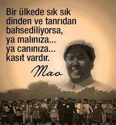 bir ülkede sık sık dinden ve Tanrı'dan bahsediliyorsa, ya malınıza ya canınıza kasıt vardır Tell The Truth, Meaningful Words, Embedded Image Permalink, Picture Quotes, True Stories, Wise Words, Revolution, Infographic, Lyrics
