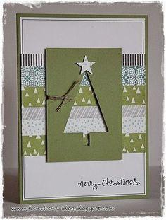 60 Ideas Diy Christmas Cards Ideas Link - Stampin Up Christmas Card Crafts, Homemade Christmas Cards, Christmas Cards To Make, Xmas Cards, Homemade Cards, Holiday Cards, Simple Christmas, Christmas Ideas, Christmas Christmas
