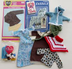 VINTAGE MIXED LOT OF PEDIGREE SINDY DOLL CLOTHES, SHOES, HANGERS ORIGINAL PACKET   eBay