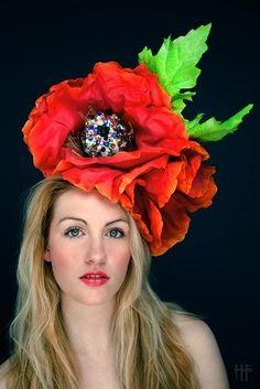 large burnt orange poppy hat
